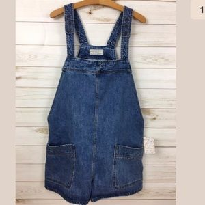 Free people denim oversized short  overalls XS